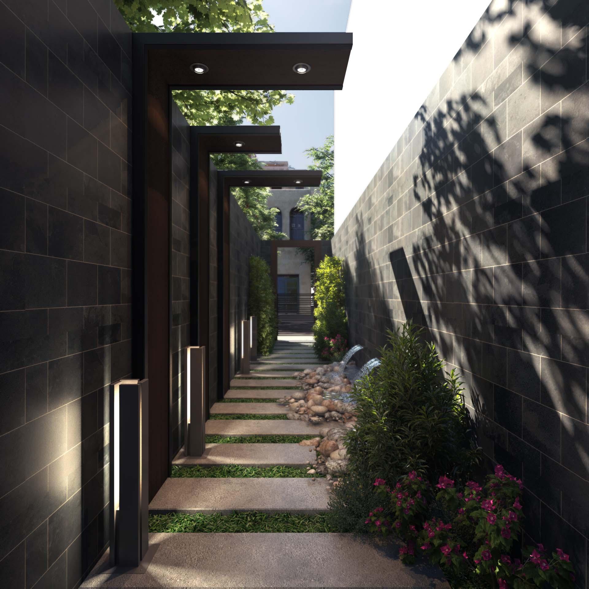 Modern Villa Side Entrance, Saudi Arabia