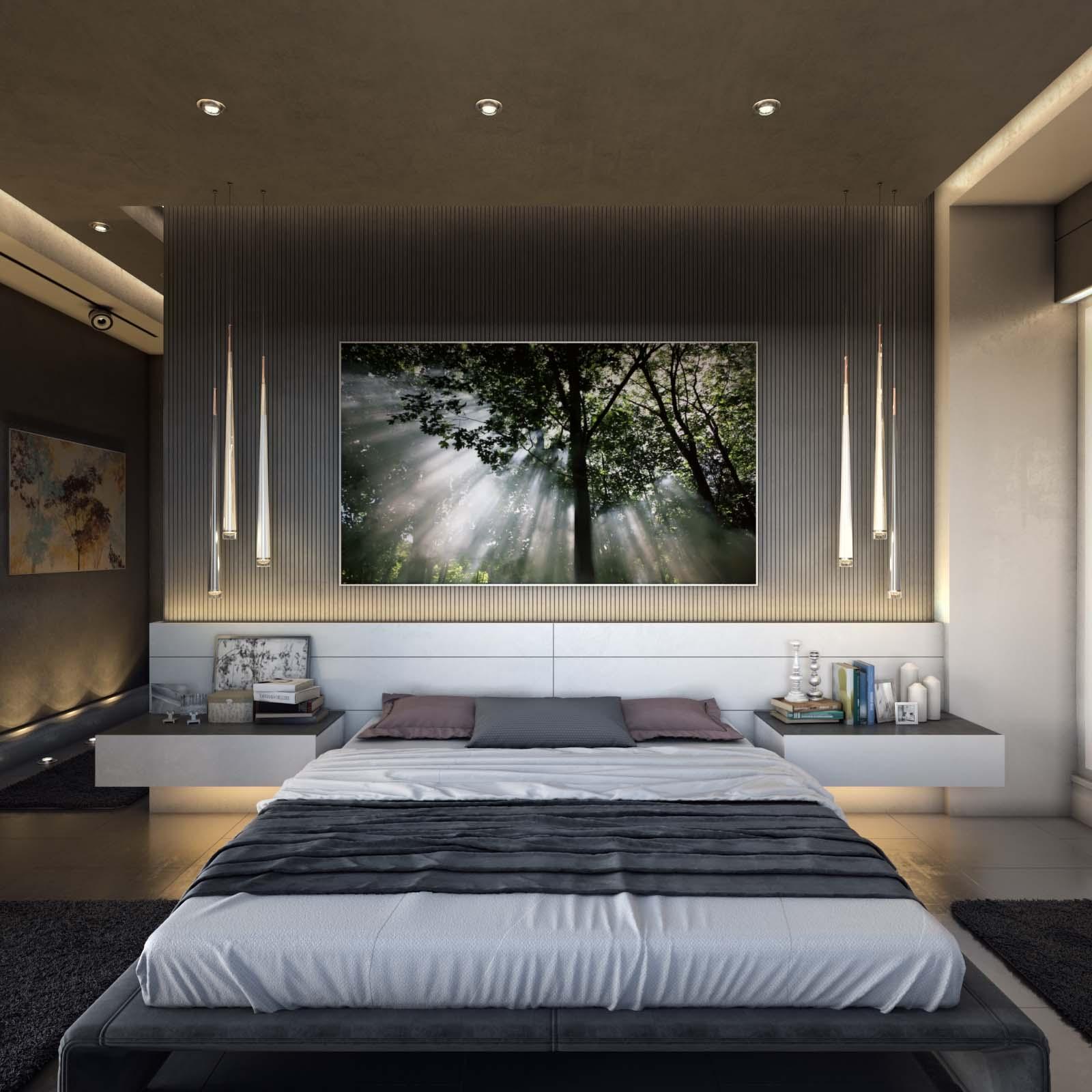 Modern Residential Villa Master Bedroom, Egypt