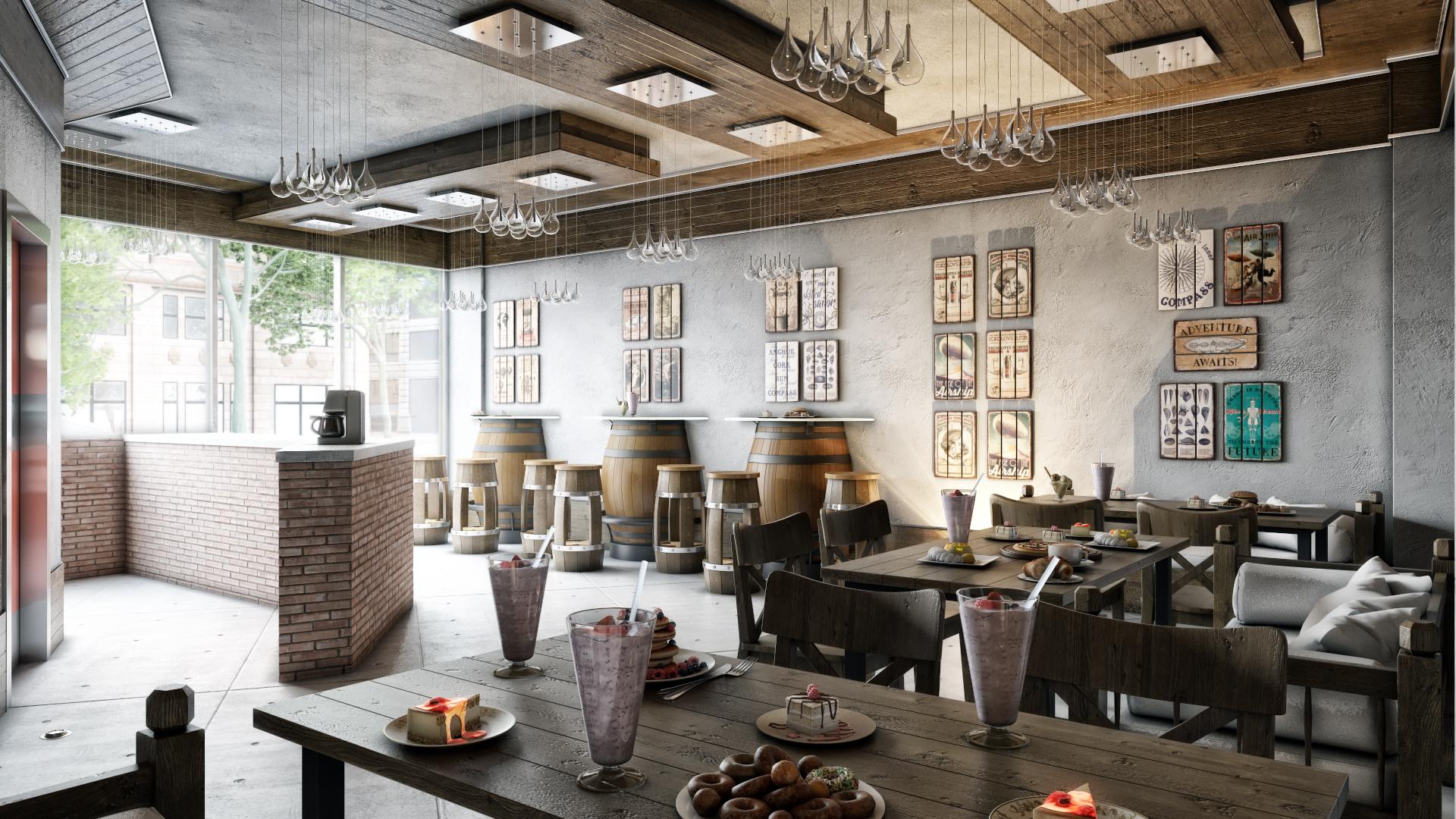 Drizzel Cafe Design Proposals, Kuwait