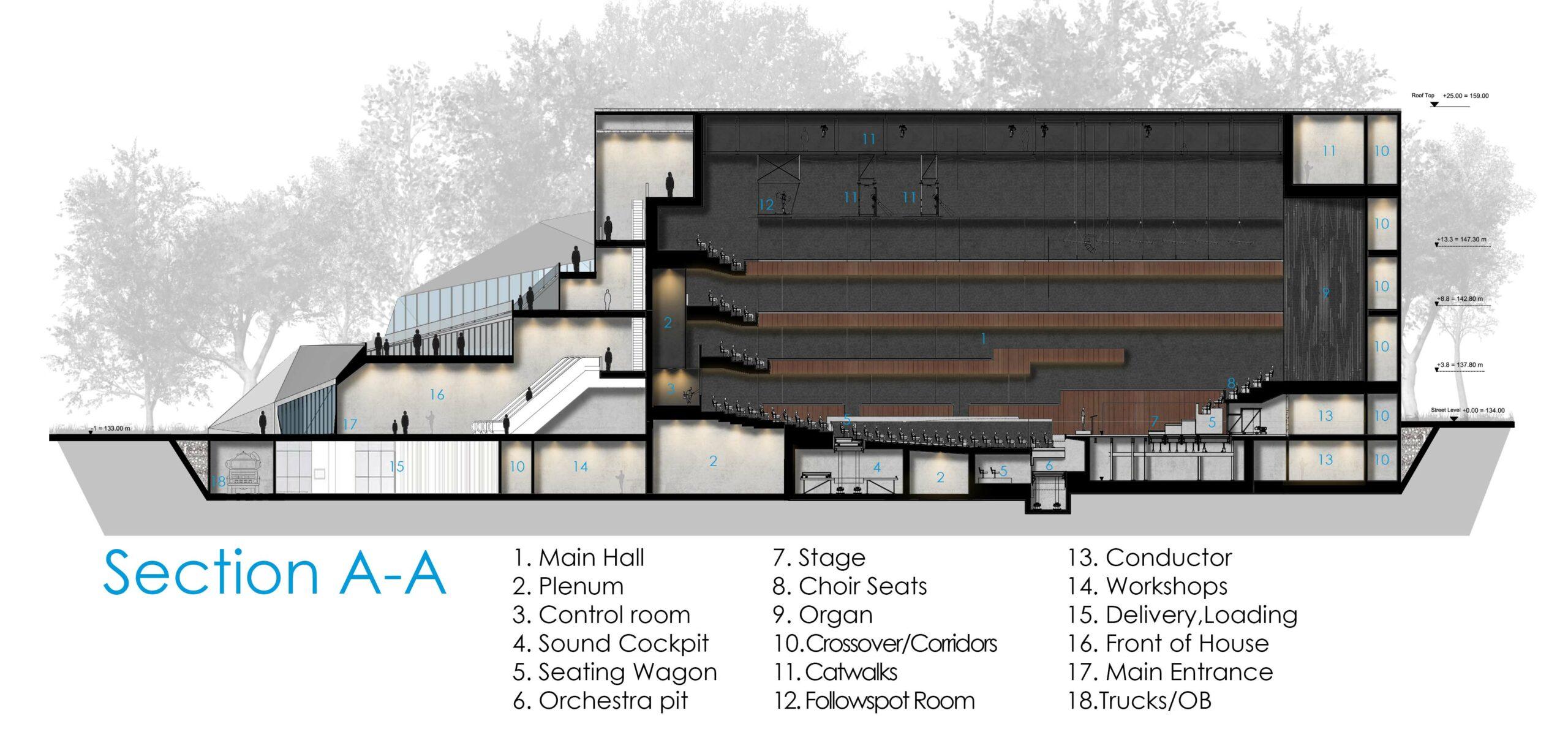 Concert Hall Graphic Design