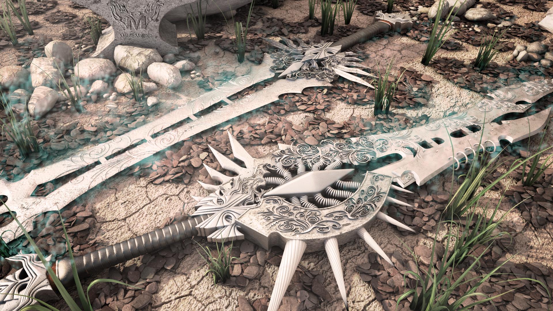 Swords 3D Modeling