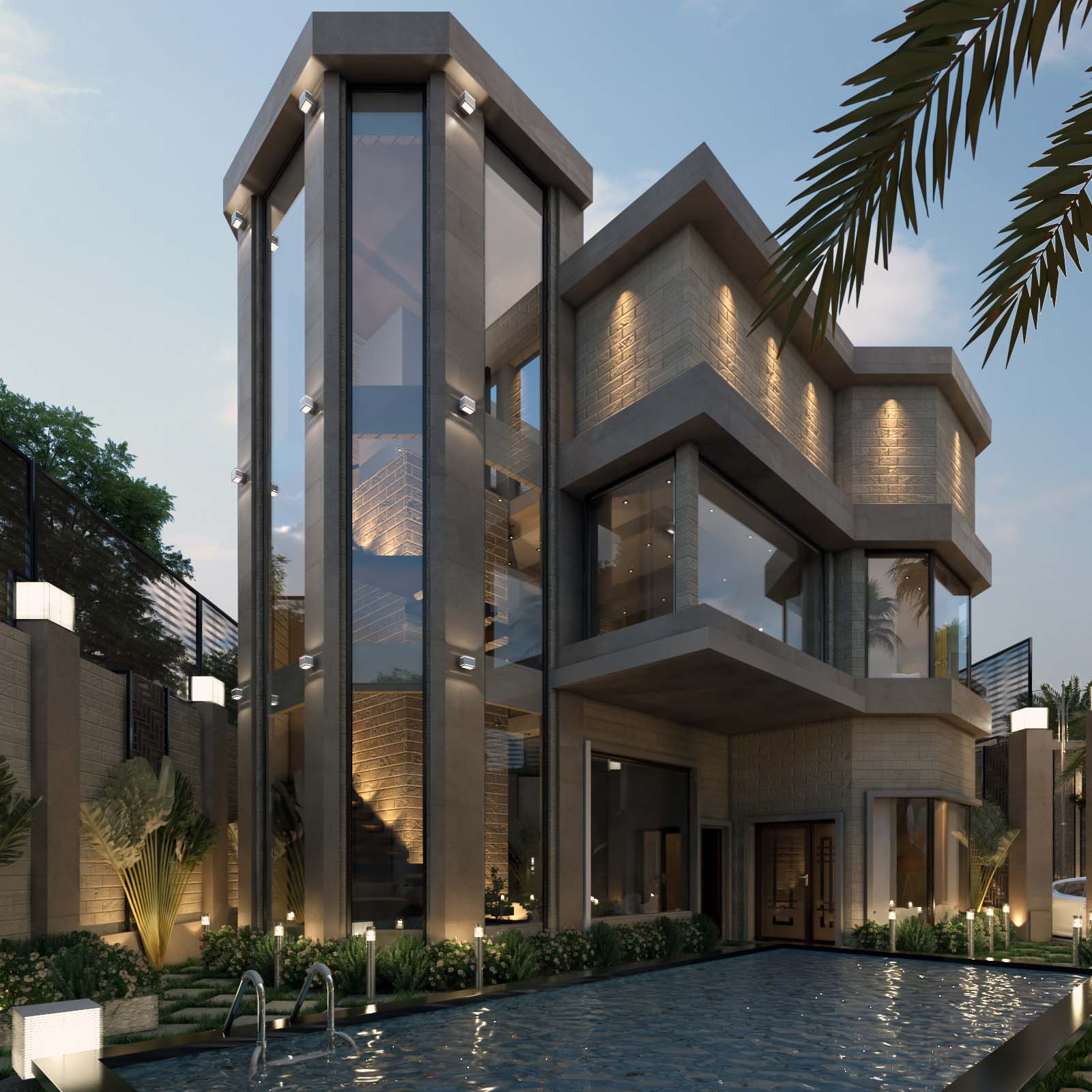 Modern Twin Villas, KSA